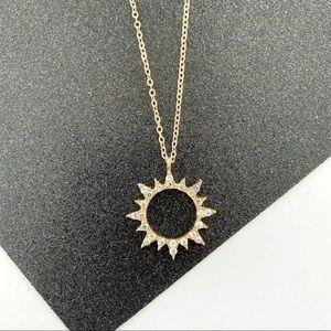 Crystal Studded Solar Necklace